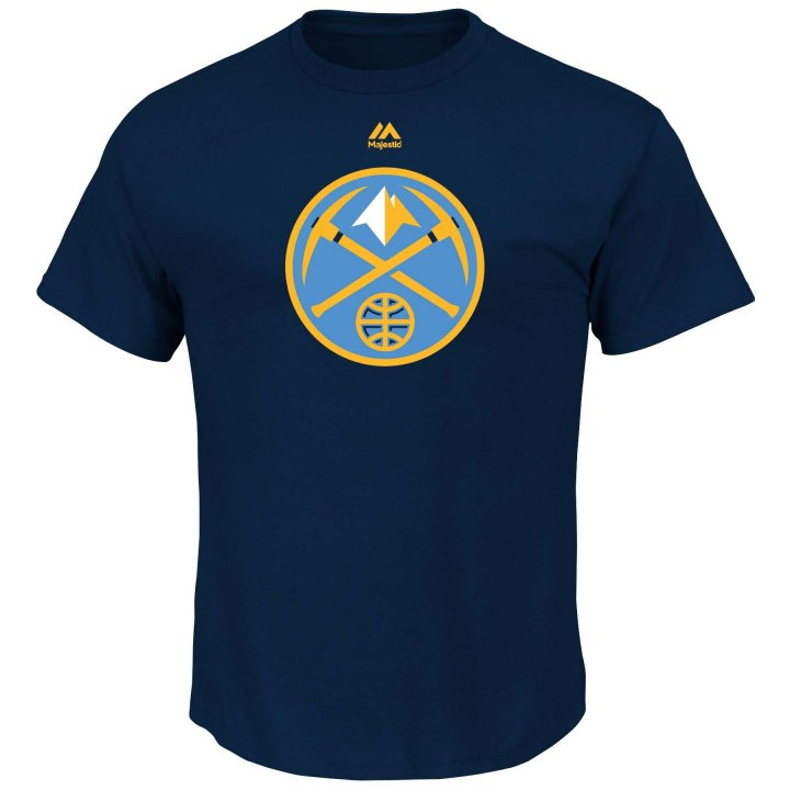 Denver Nuggets Logo T-Shirt (Navy)