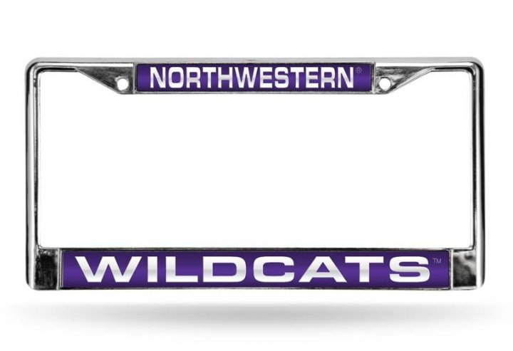 Northwestern Wildcats NCAA Laser Chrome License Plate Frame