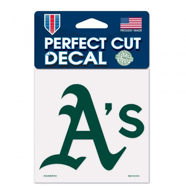 Oakland Athletics 4x4 Color Die Cut Decal