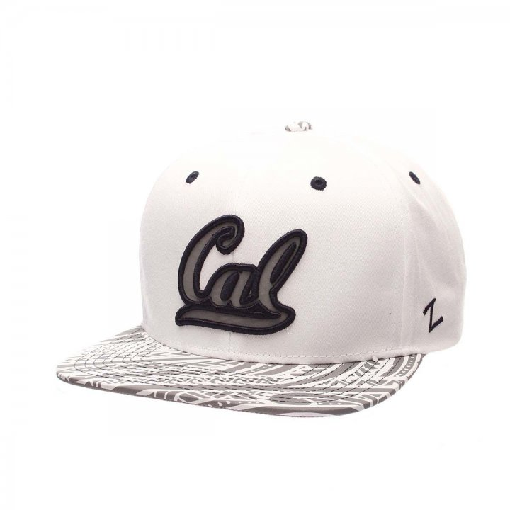 CAL Golden Bears Lahaina Snapback Hat (White)