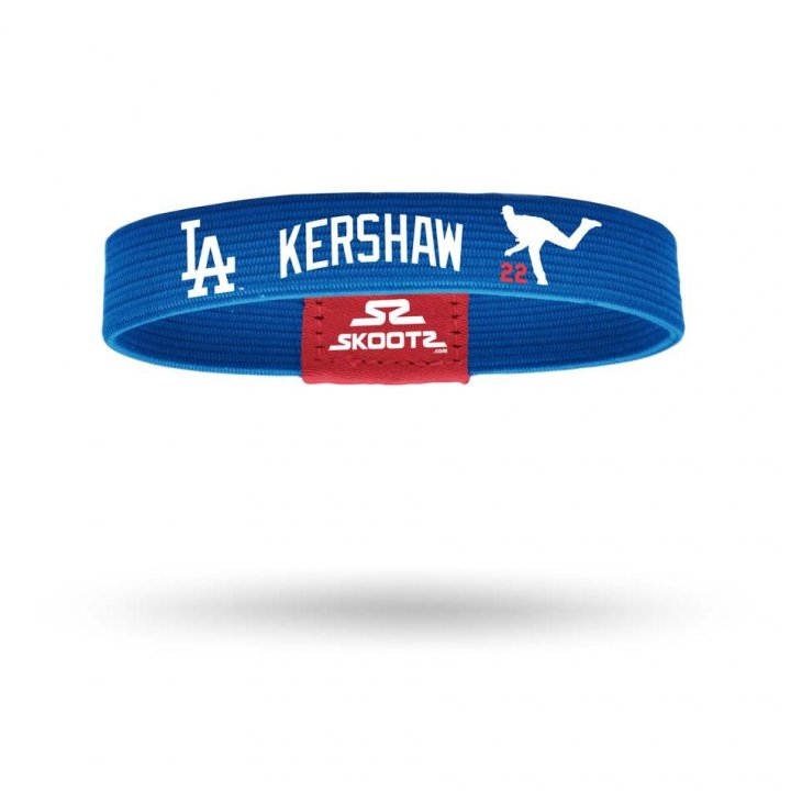 Los Angeles Dodgers MLB Clayton Kershaw Shadow Bandz (Royal)