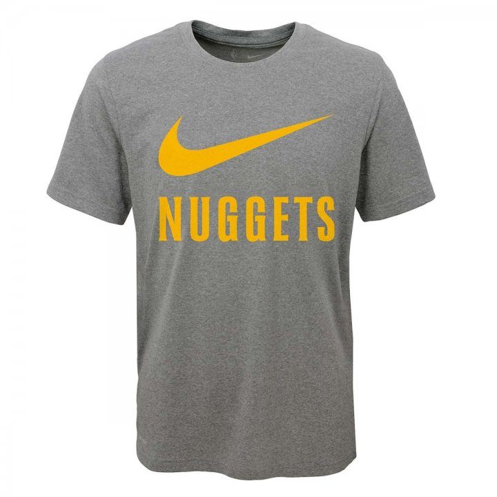 Denver Nuggets NBA Youth Swoosh Team T-Shirt (Gray)