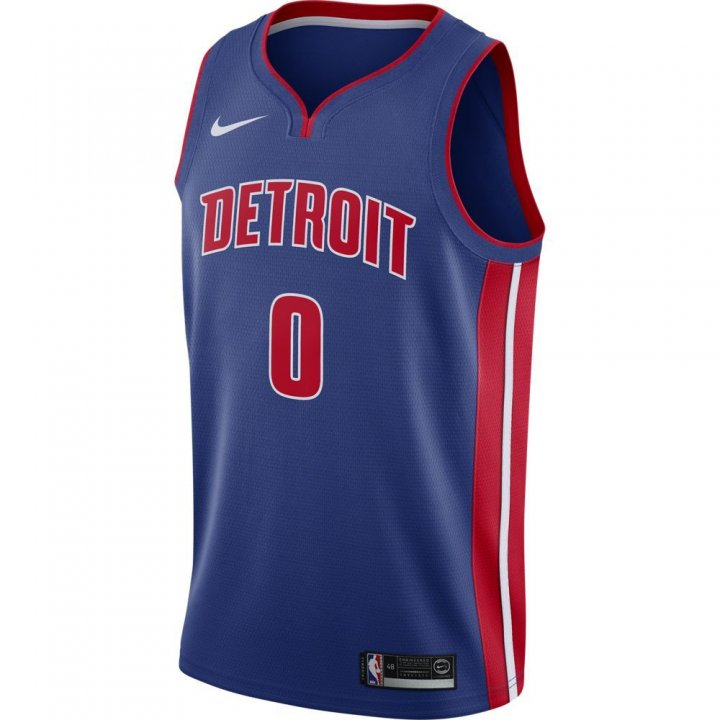 Detroit Pistons NBA Andre Drummond Mens Nike Icon Swingman Jersey (Royal)
