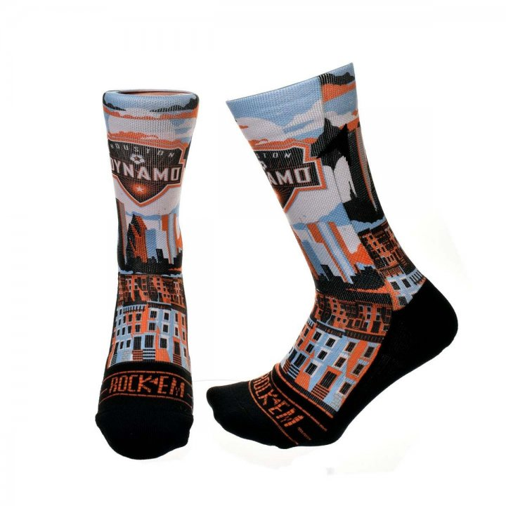 Houston Dynamo MLS City Skyline Graphic Sock (Orange)