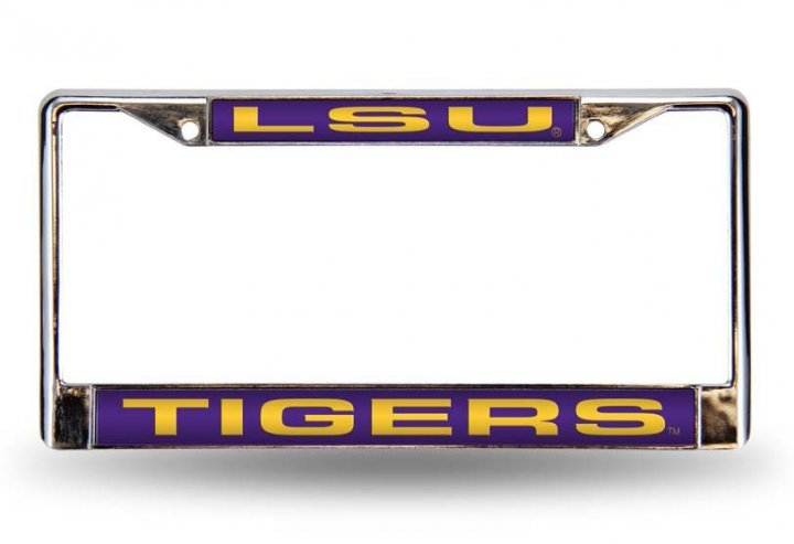 LSU Tigers NCAA Laser Chrome License Plate Frame
