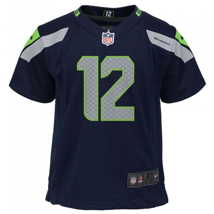 Seattle Seahawks Infant Nike Game Jersey (Navy)
