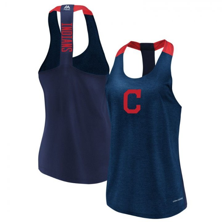 Cleveland Indians MLB Womens Desire More Tank (Navy)