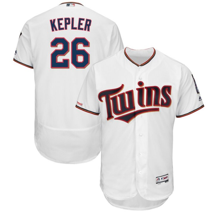 Franklin Sports Men's Max Kepler Minnesota Twins Home Flex Base Authentic Collection Player Jersey - White