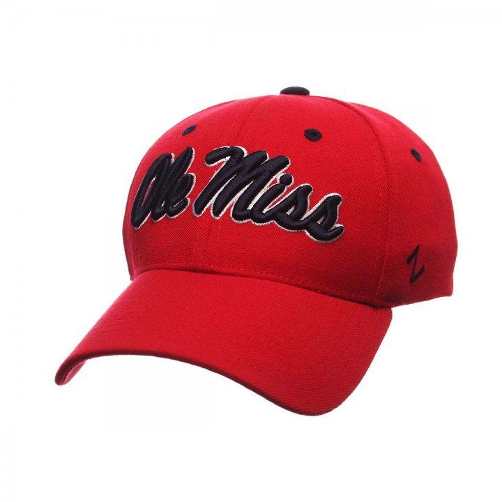 Mississippi Rebels ZHS Stretch Hat (Red)