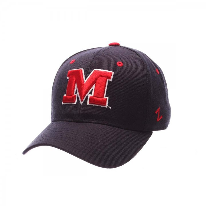Mississippi Rebels Zephyr NCAA Dh Fitted Hat (Navy)