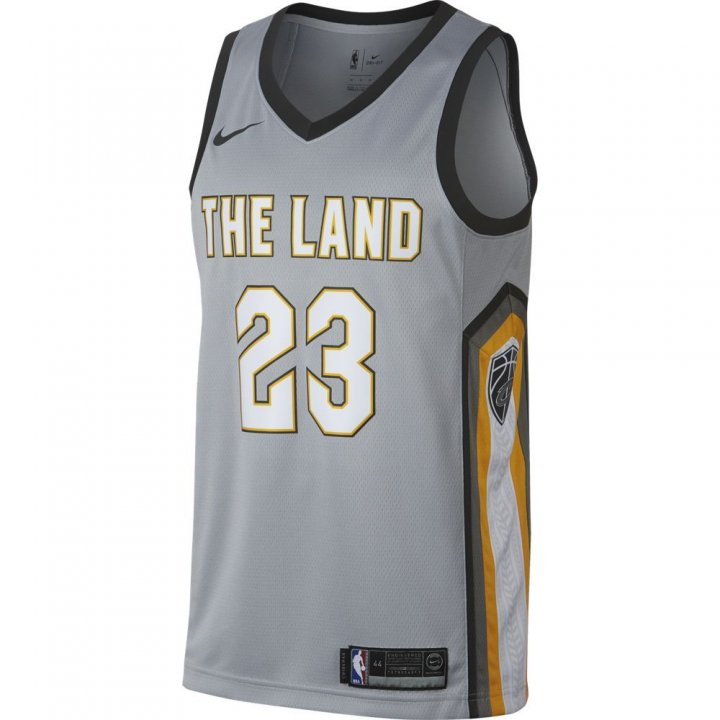 Cleveland Cavaliers NBA Lebron James City Edition Swingman Jersey (Gray)