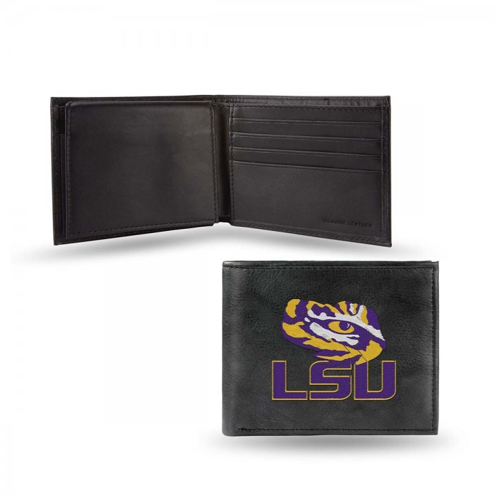 LSU Tigers NCAA Leather Wallet (Black)