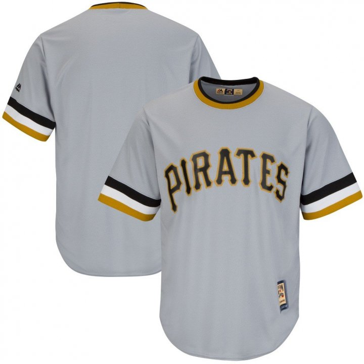 VF Pittsburgh Pirates MLB Mens Majestic Cool Base Cooperstown Jersey Gray Big & Tall Sizes