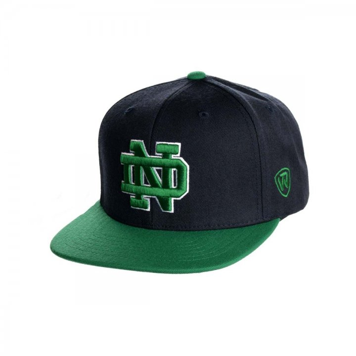 Notre Dame Fighting Irish Snapback Adjustable Hat (Navy)