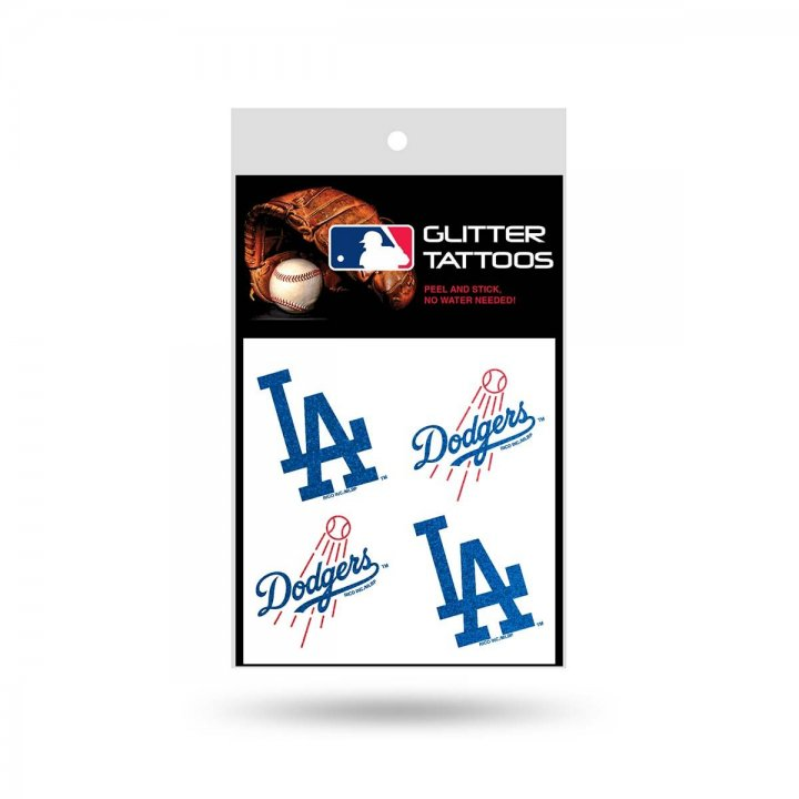 Los Angeles Dodgers Glitter Tattoo