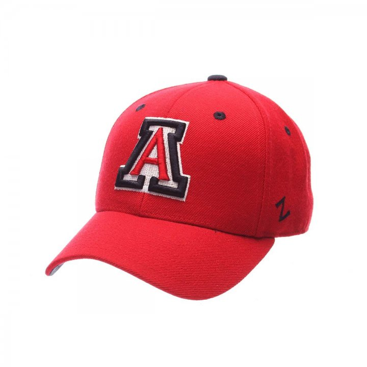 Arizona Wildcats Zephyr NCAA Dh Fitted Hat (Red)