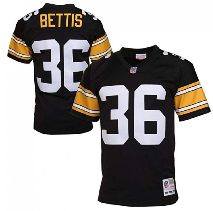 Franklin Sports Jerome Bettis Pittsburgh Steelers Retired Player Vintage Jersey Black