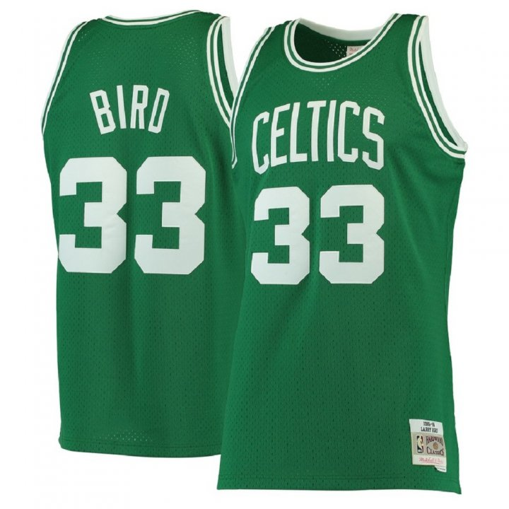 Franklin Sports Larry Bird #33 Boston Celtics 1985-86 Hardwood Classics Green Swingman Jersey
