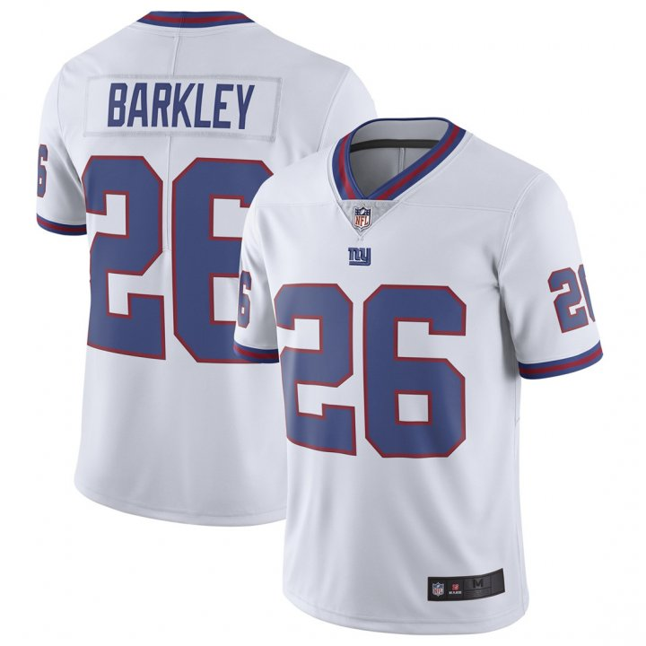 Franklin Sports Youth Kids 26 Saquon Barkley New York Giants Jersey Color Rush White