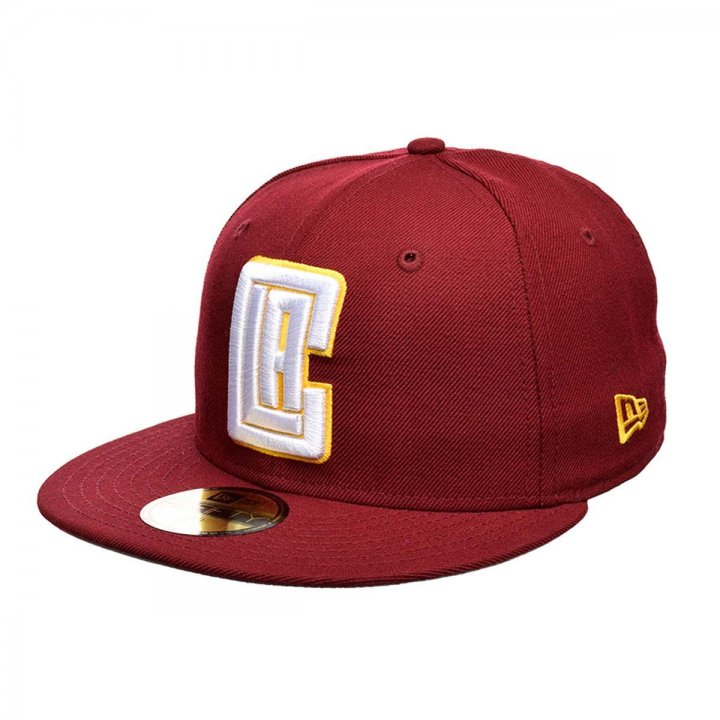 New Era Los Angeles Clippers Solid Color 59Fifty Fitted Hat (Maroon)