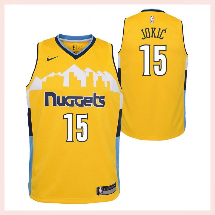 Denver Nuggets NBA Nikola Jokic Youth Statement Swingman Jersey (Gold)