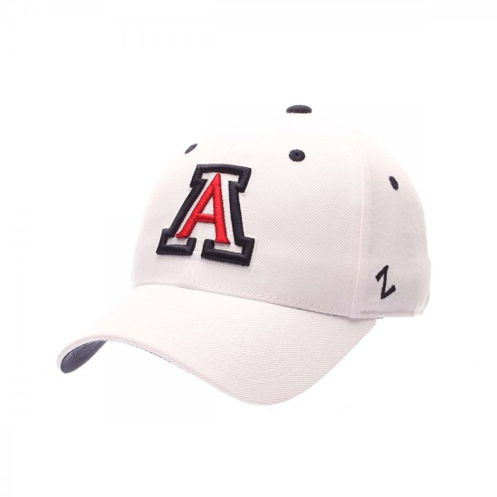 Arizona Wildcats Zephyr NCAA Dh Fitted Hat (White)