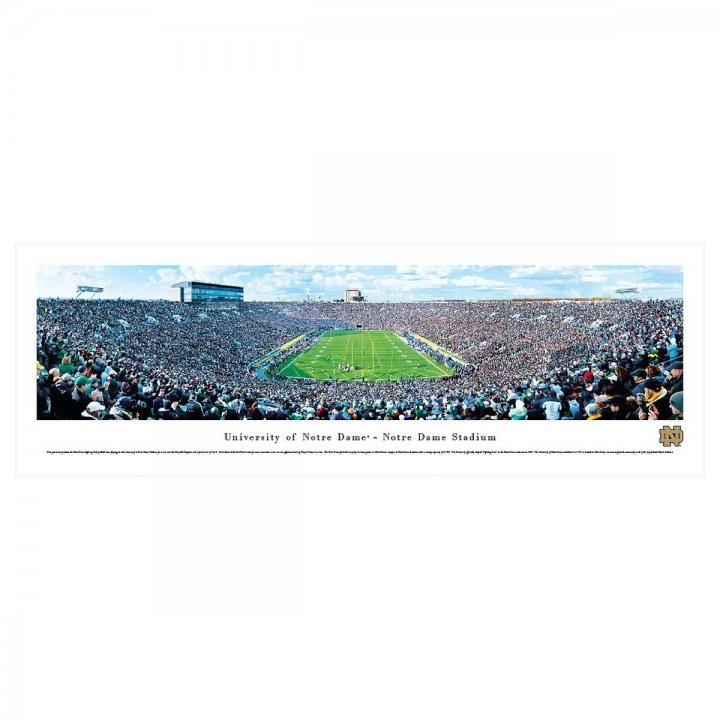 Notre Dame Fighting Irish End Zone Unframed Panorama