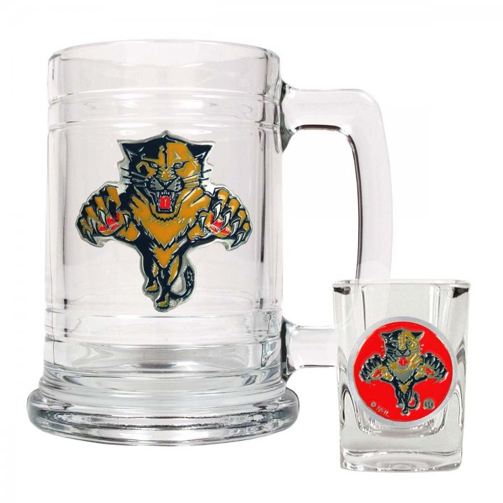 Florida Panthers NHL Boilermaker Set (Clear)