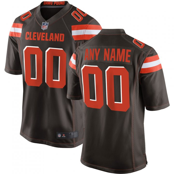 VF Men Youth Kids Cleveland Browns Custom Any Name Number Embroidery Jersey Brown