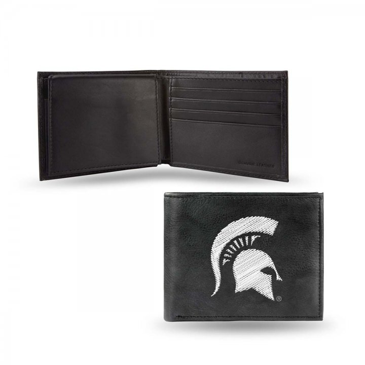 Michigan State Spartans NCAA Leather Wallet (Black)