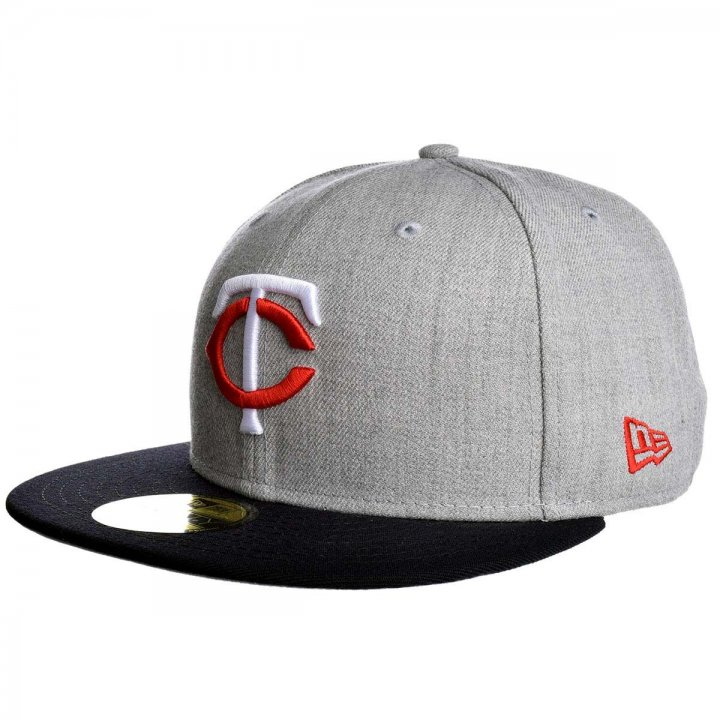 Minnesota Twins New Era Heather Graphite 59Fifty Fitted Hat (Gray)