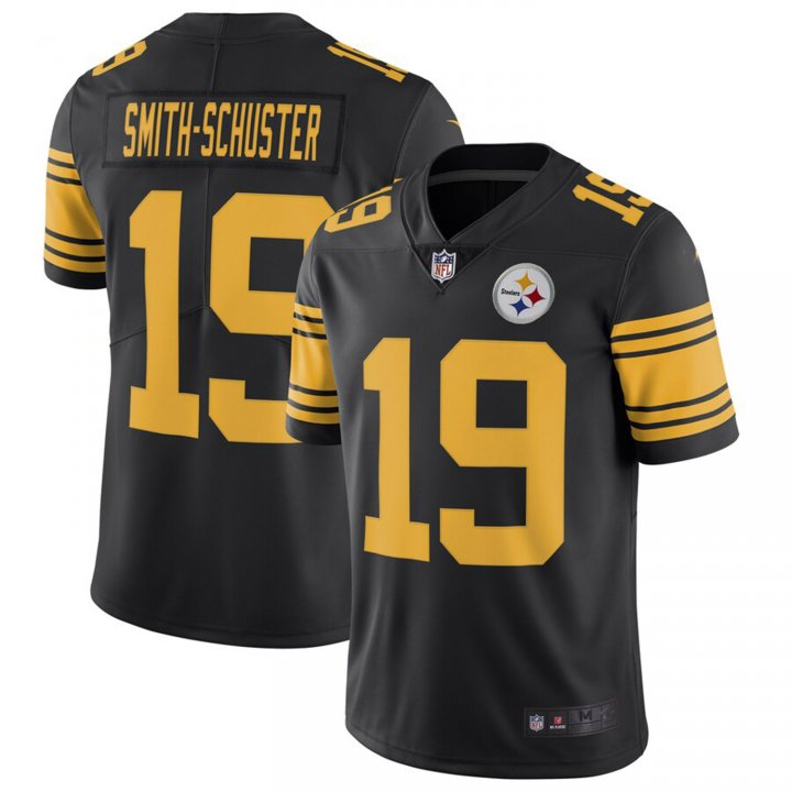 Franklin Sports Men's JuJu Smith-Schuster #19 Pittsburgh Steelers Color Rush Limited Player Jersey - Black