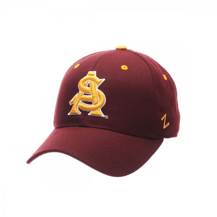Arizona State Sun Devils Zephyr NCAA Dh Fitted Hat (Red)