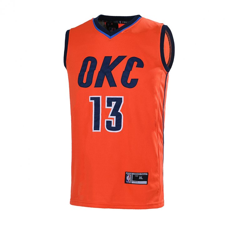 Outerstuff Youth 8-20 Paul George #13 Oklahoma City Thunder Jersey Orange