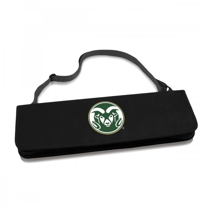 Colorado State Rams Metro BBQ Tote and Tools Set (Black)