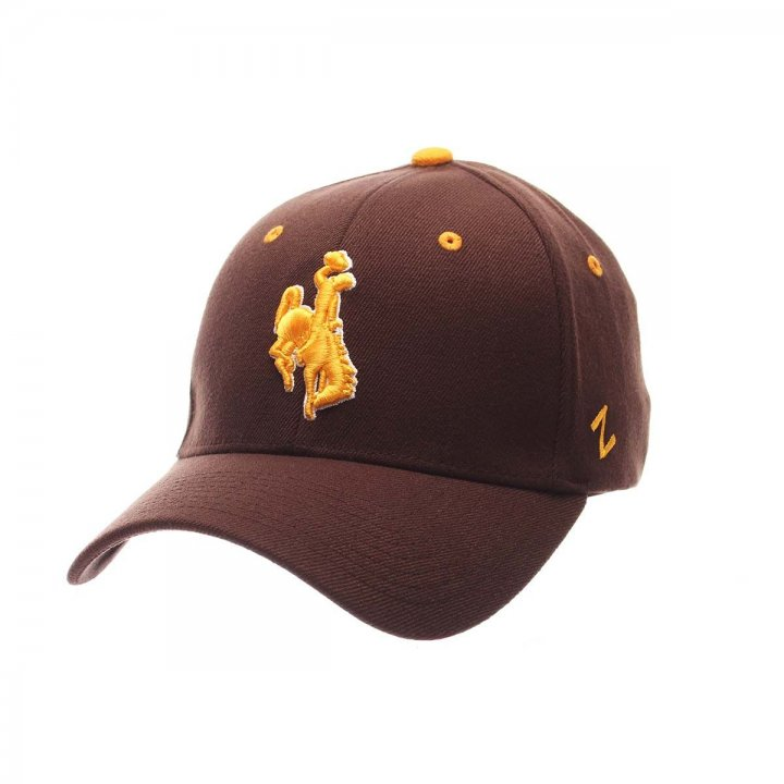 Wyoming Cowboys ZHS Stretch Hat (Brown)