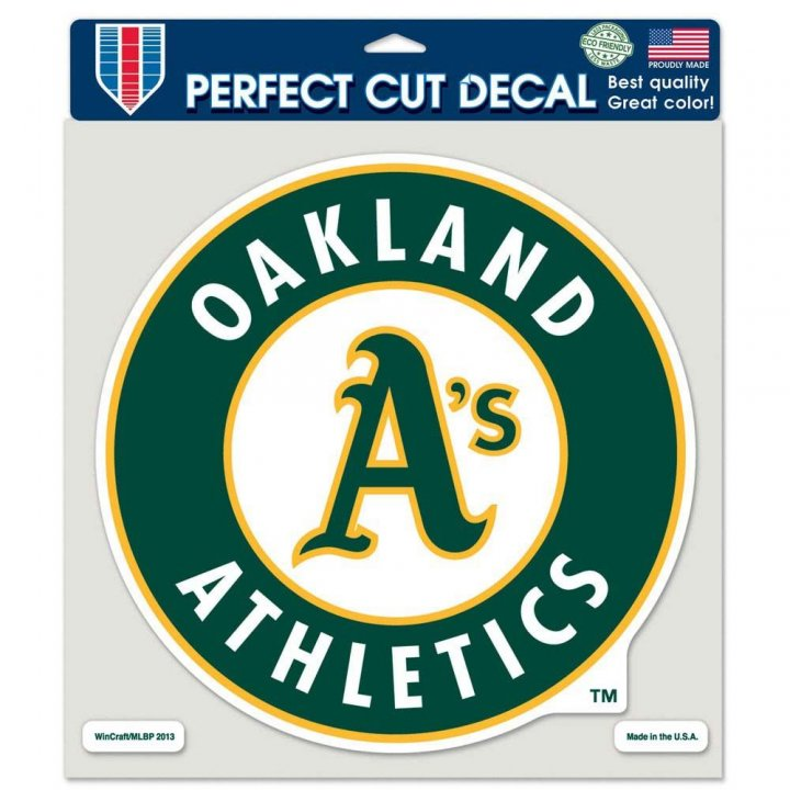 Oakland Athletics 8in Die Cut Decal