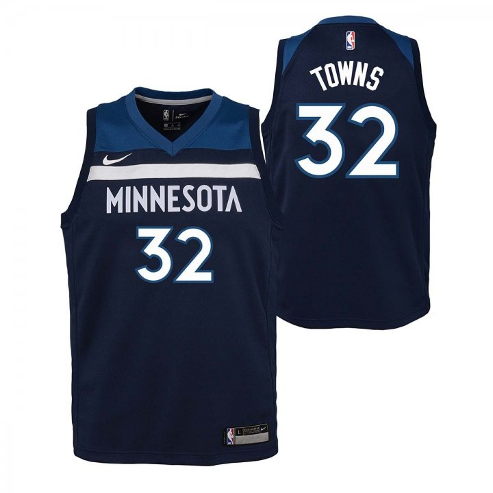 Minnesota Timberwolves NBA Karl Anthony-Towns Youth Icon Swingman Jersey (Navy)