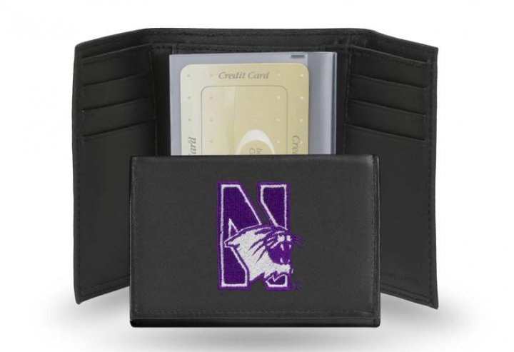 Northwestern Wildcats NCAA Leather Wallet (Black)