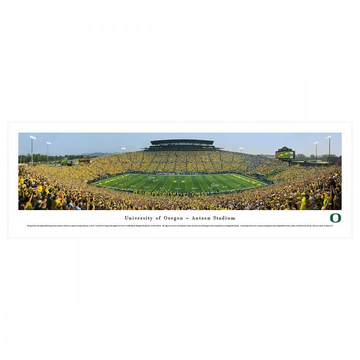Oregon Ducks 50 Yard Line Day Unframed Panorama