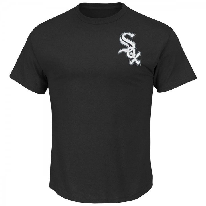 Majestic Chicago White Sox Official Wordmark T-Shirt (Black)