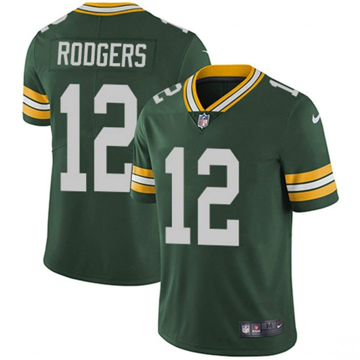 Outerstuff Youth Green Bay Packers #12 Aaron Rodgers Player Jersey for Kids - Green