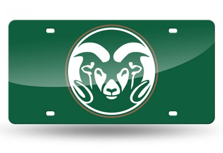 Colorado State Rams NCAA Laser Cut Tag