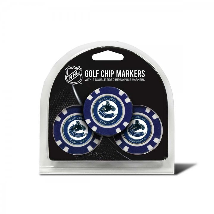 Vancouver Canucks Golf Ball Markers 3 Pack