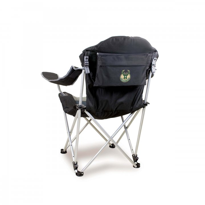 Milwaukee Bucks Reclining Camp Chair (Black)
