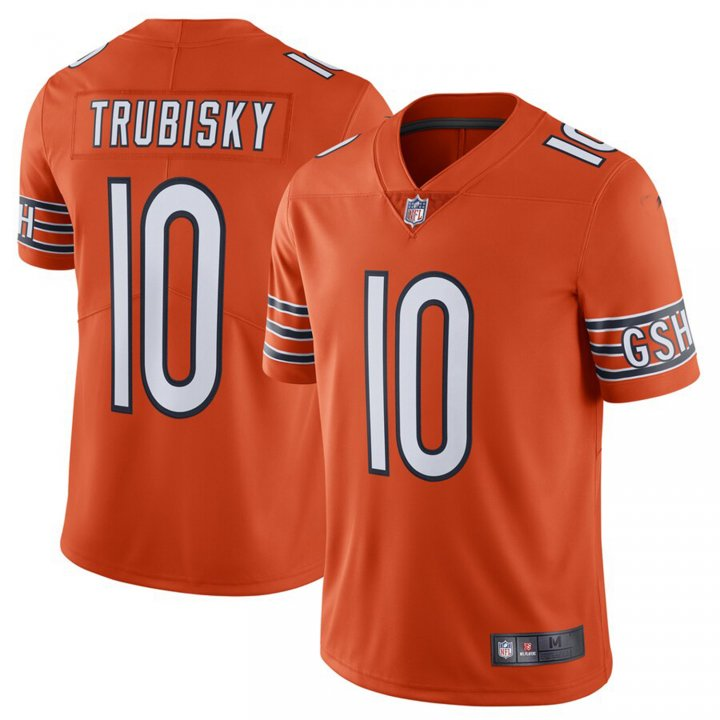 Franklin Sports Men's Mitchell Trubisky Chicago Bears Untouchable Limited Player Jersey - Orange