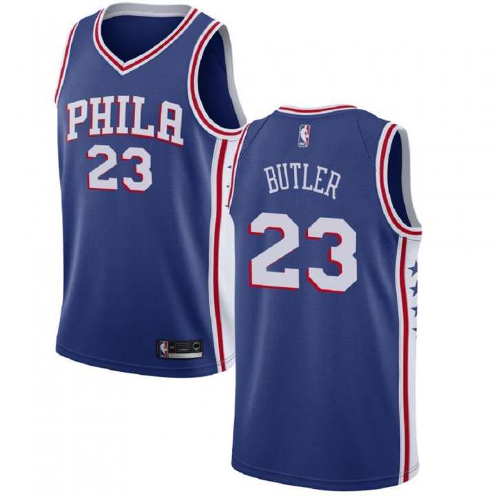 Majestic Athletic Philadelphia 76ersMen's Swingman Jimmy Butler #23 Jersey Blue