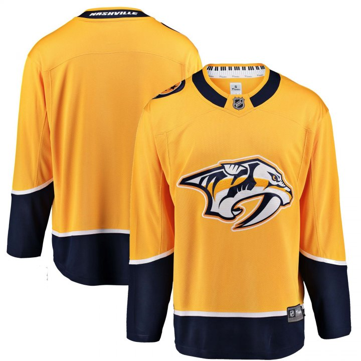 Nashville Predators NHL Mens Home Breakaway Jersey (Yellow)