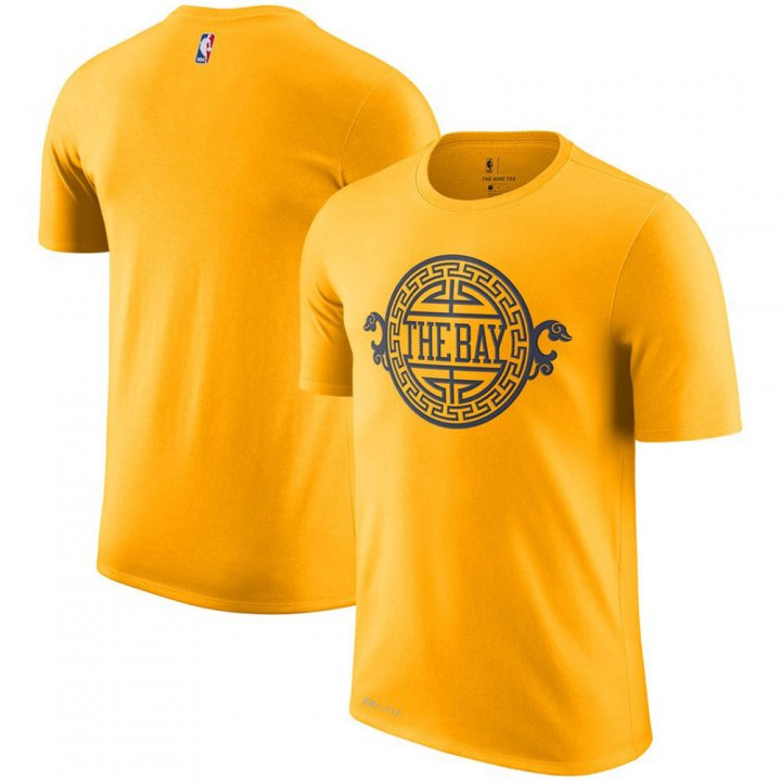 Franklin Sports Golden State Warriors City Edition Performance Gold T-Shirt