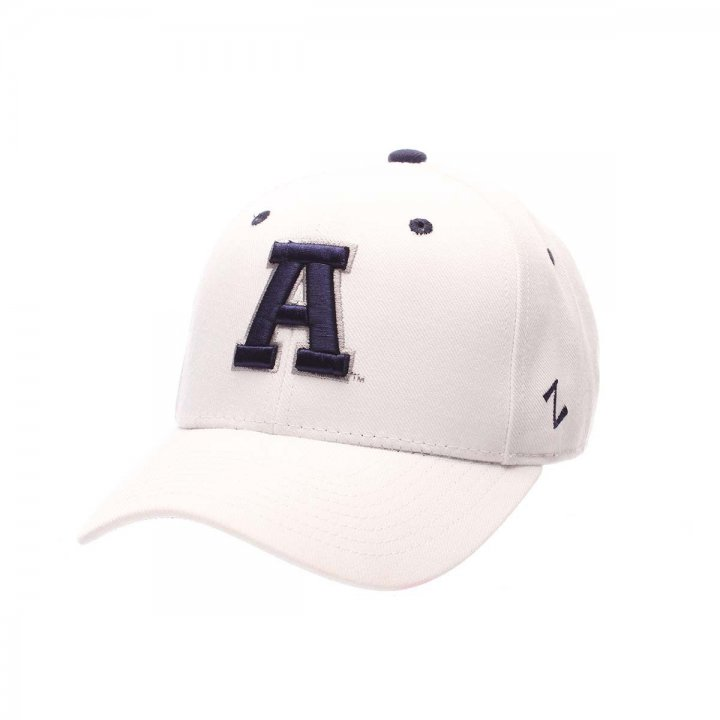Utah State Aggies Zephyr NCAA Dh Fitted Hat (White)